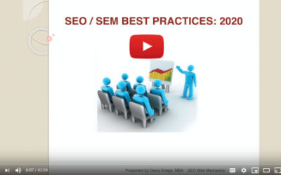 Search Engine Optimization Search Engine Marketing Training 2020